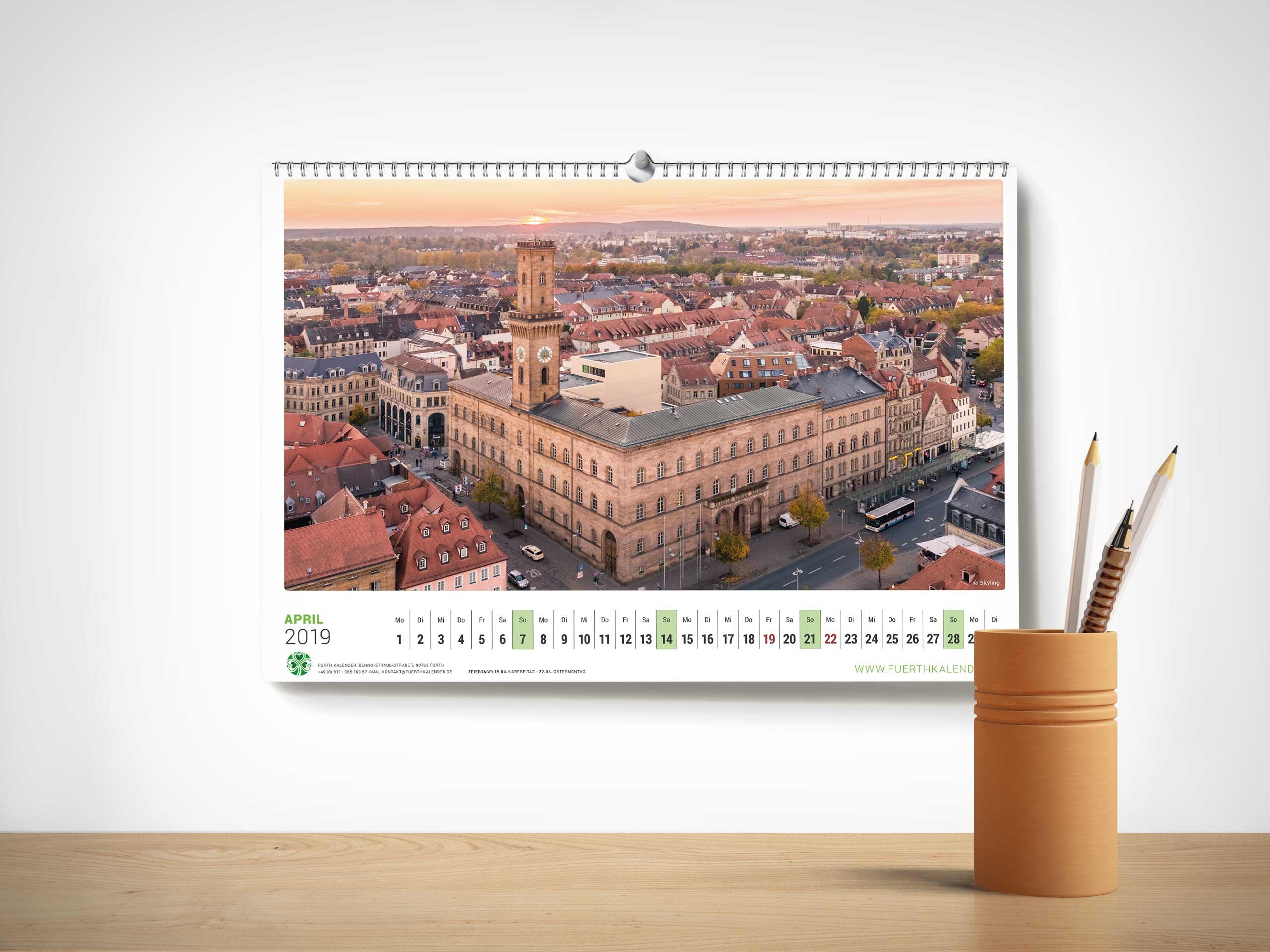 Fürth Kalender 2019 Einzelansicht