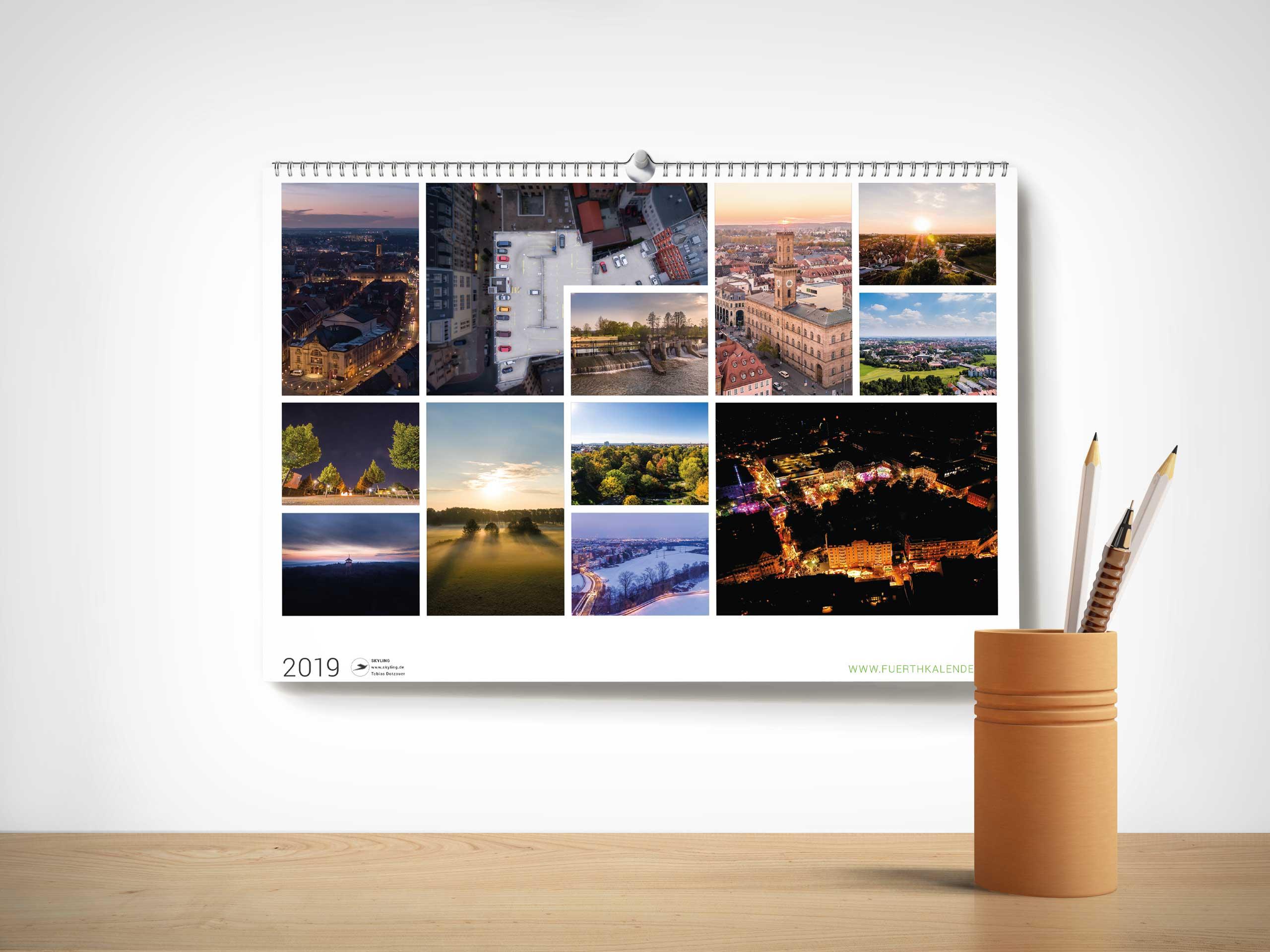 Fürth Kalender 2019 - Übersicht